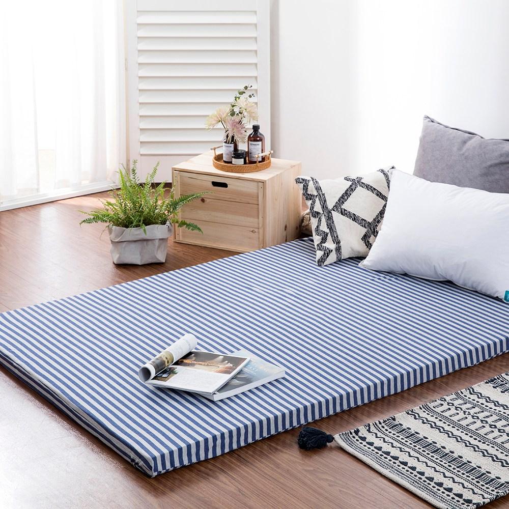 台灣製5CM記憶釋壓床墊-特規105x200cm(含純棉針織床墊套)
