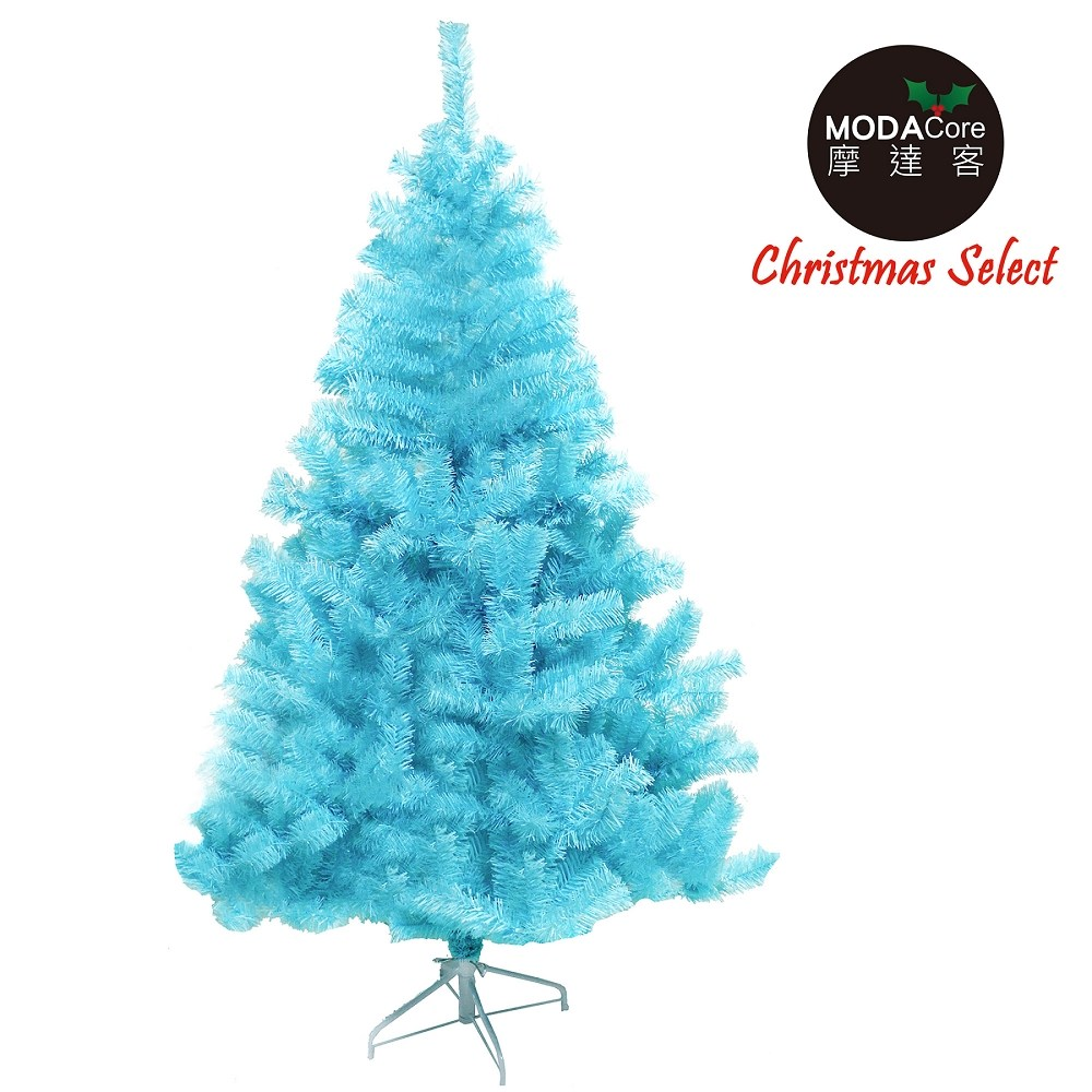 【摩達客】台灣製7尺(210cm)豪華版冰藍色聖誕樹裸樹(不含飾/不含燈)本島免運費
