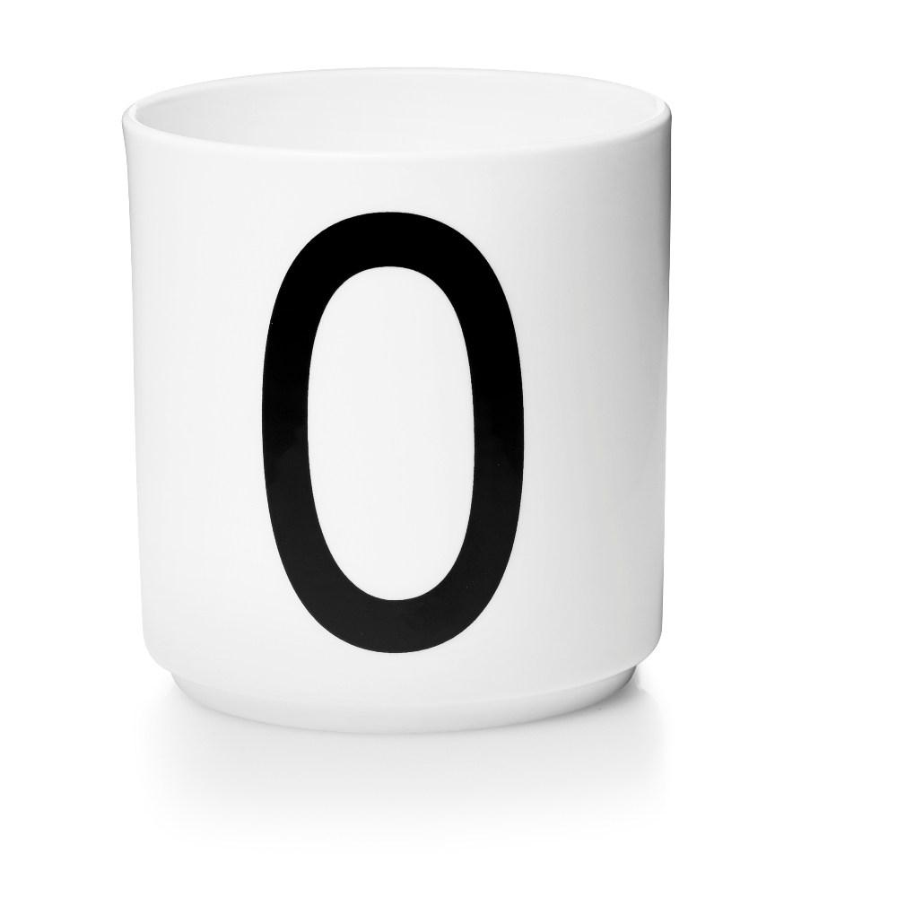 Design Letters 字母骨瓷杯白 O