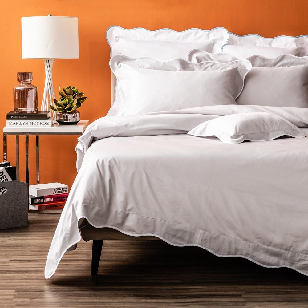 HOLA 艾薇菈埃及棉波浪款系列 床包 雙人 銀灰