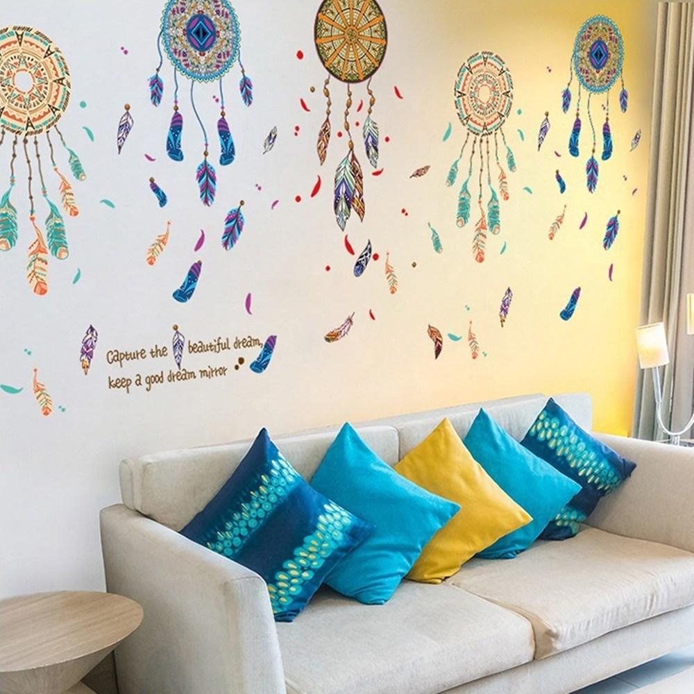 【Loviisa 印度吊飾】無痕壁貼 壁紙