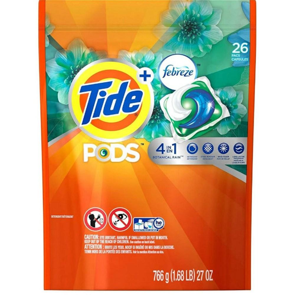 美國 Tide四合一洗衣凝膠球+Febreze(884g/30顆)*2
