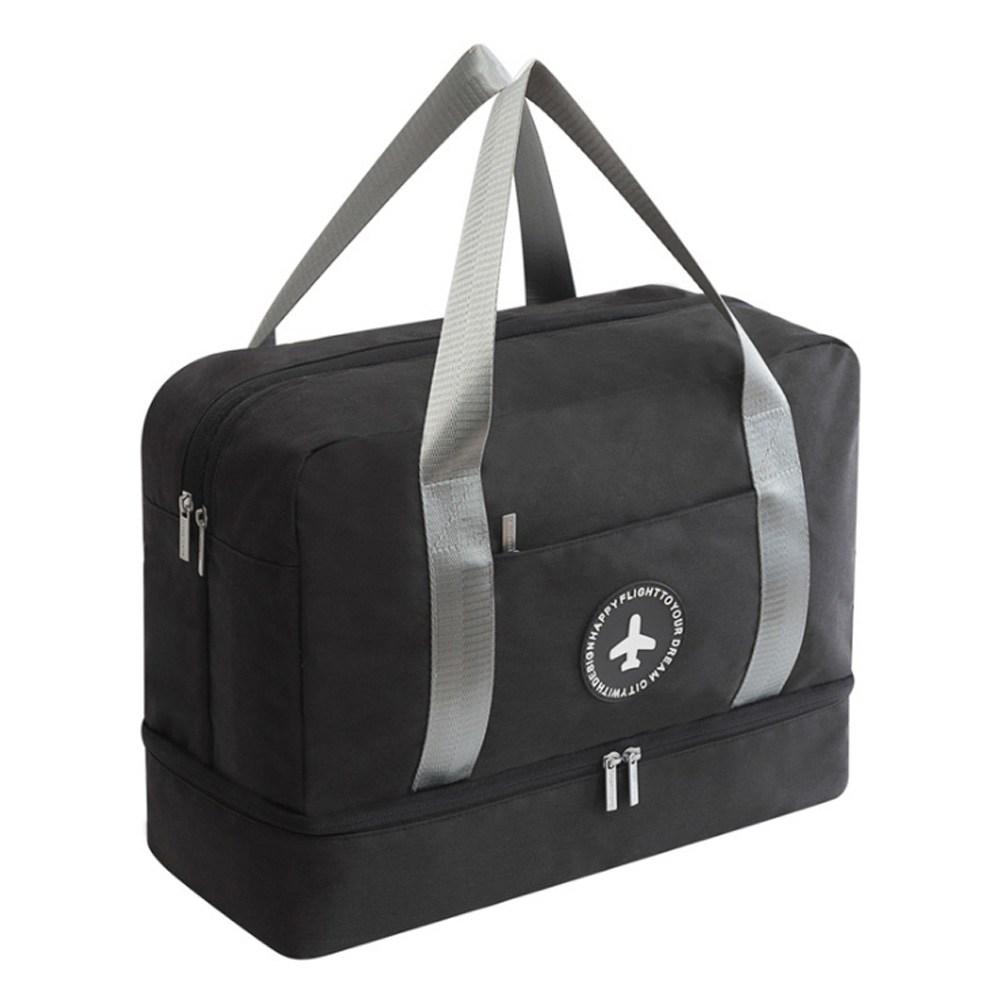 PUSH!旅遊用品防水手提行李包行李收納包鞋包大容量黑色S52-1黑色