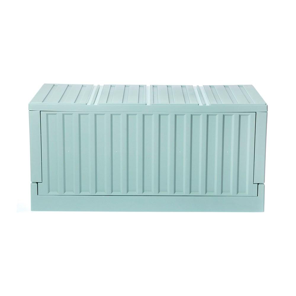 HOLA 掀蓋摺疊貨櫃箱 寬64cm 綠色