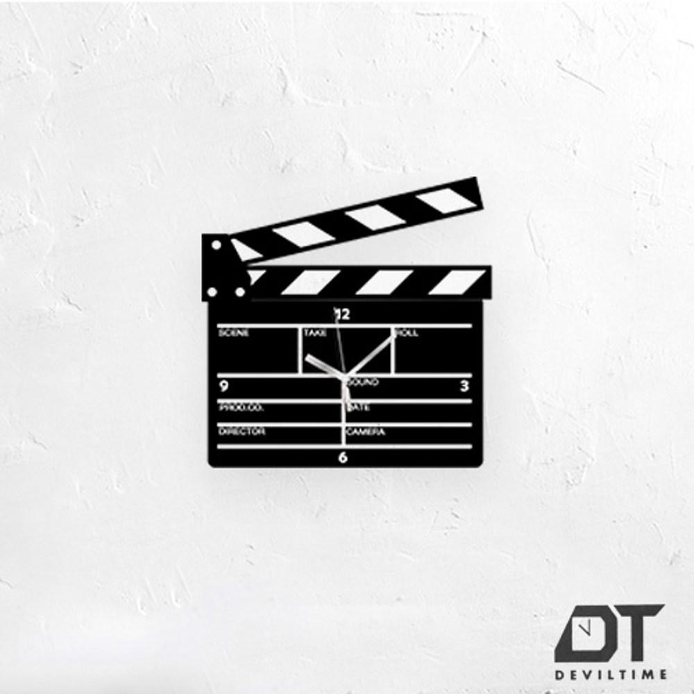 DT Time復古木質系列時鐘-場記板