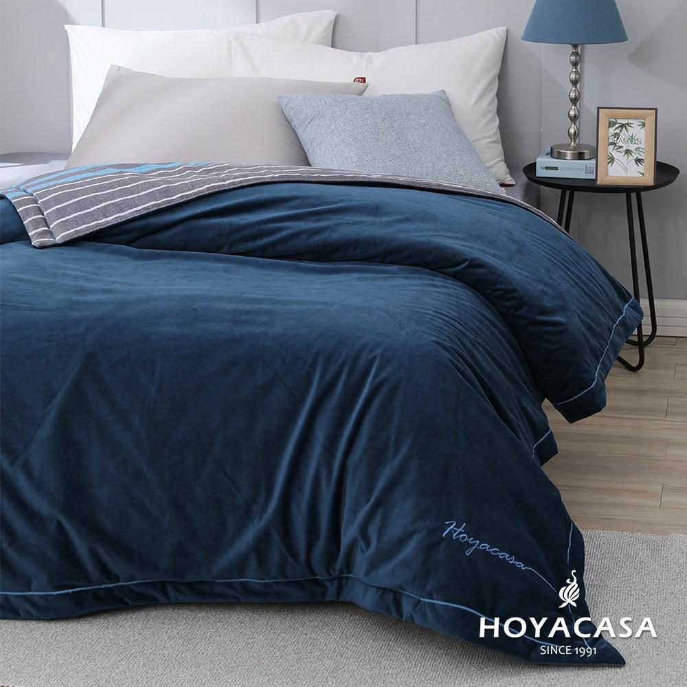 【HOYACASA希臘藍】柔膚舒眠抗菌毯(單人5x7尺)