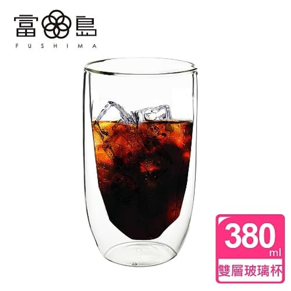 【FUSHIMA 富島】冰裂系列雙層耐熱玻璃杯380ML