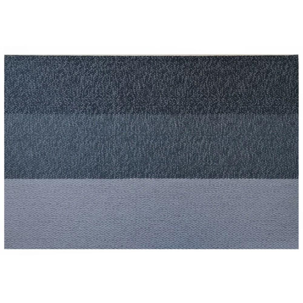 灰藍色漸層仿亞麻編織防滑隔熱餐墊