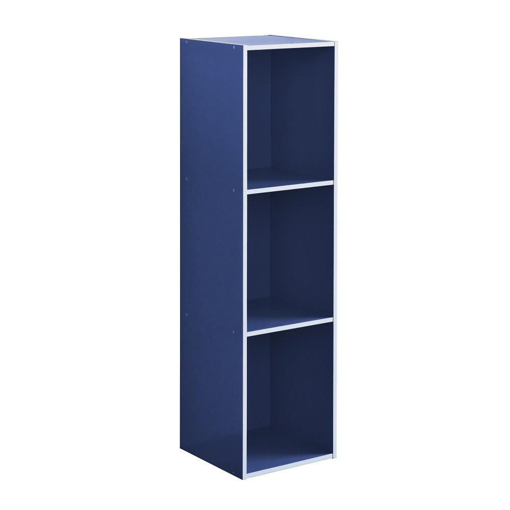 系統簡約加高三格櫃-藍色