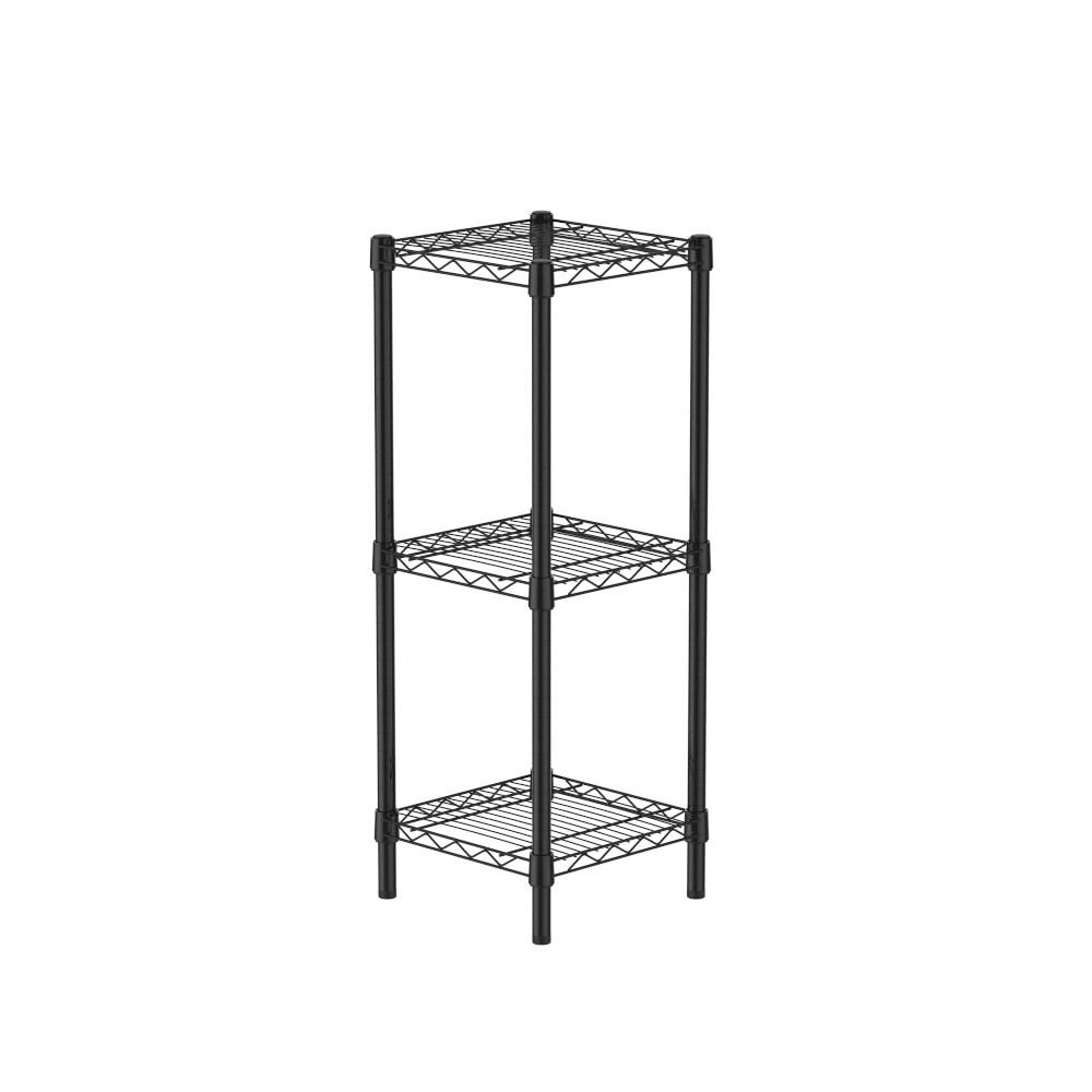 (組)特力屋烤漆三層架 -黑 33x33x90CM