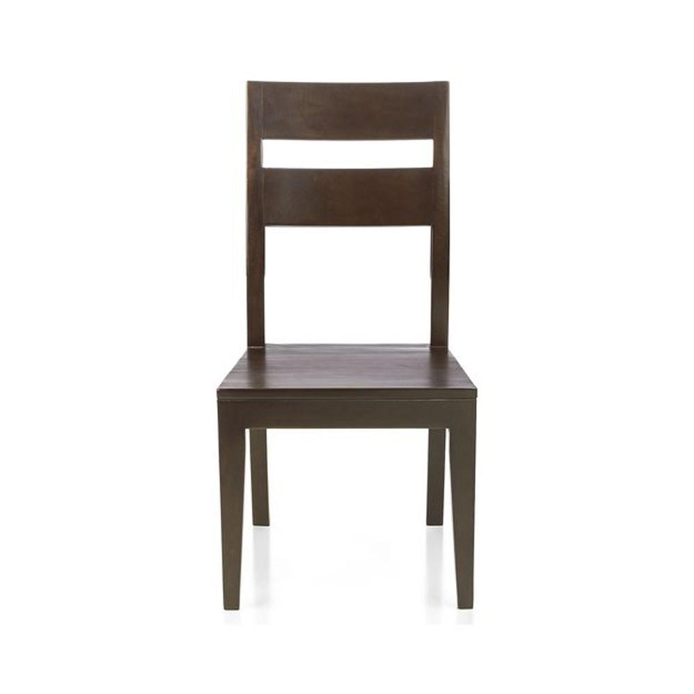 Crate&barrel Basque 餐椅 可可色