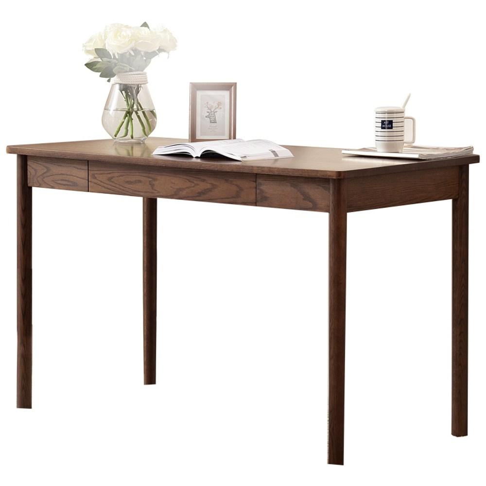原木日式和風紅橡木實木1.2M書桌s0202-胡桃色
