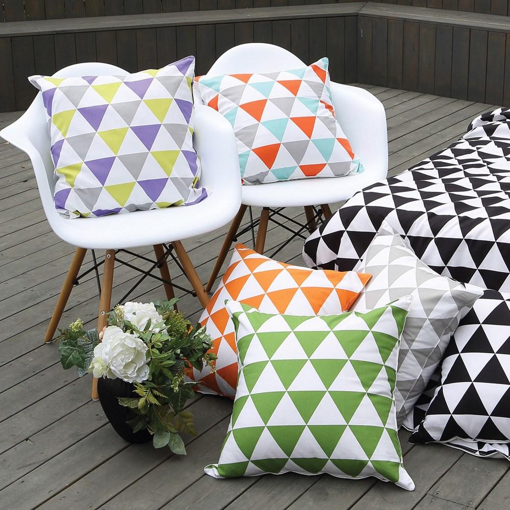 IN-HOUSE-純棉抱枕(經典系列-三角)50x50cm