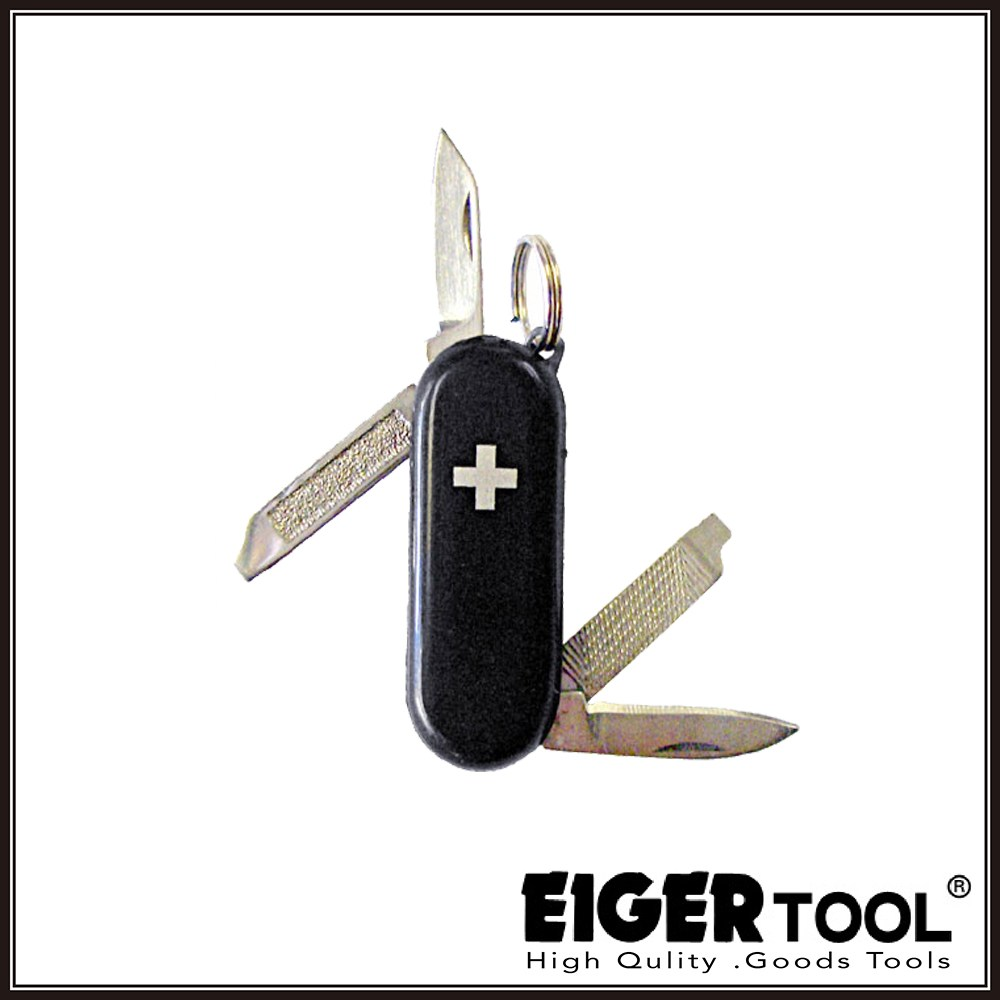 【Eigertool】超迷你瑞士刀-黑 ZK-5