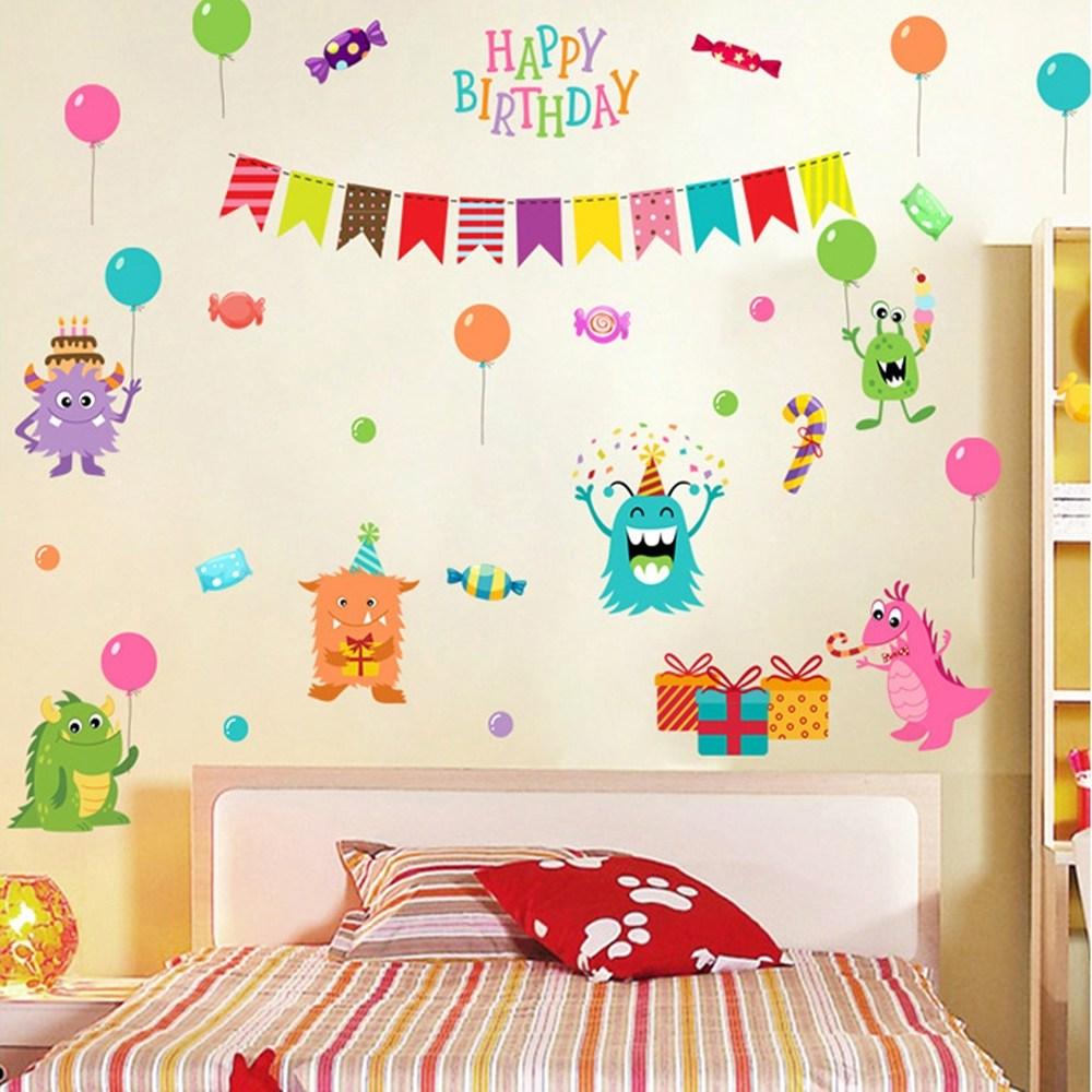 【Loviisa 生日派對】無痕壁貼 壁紙