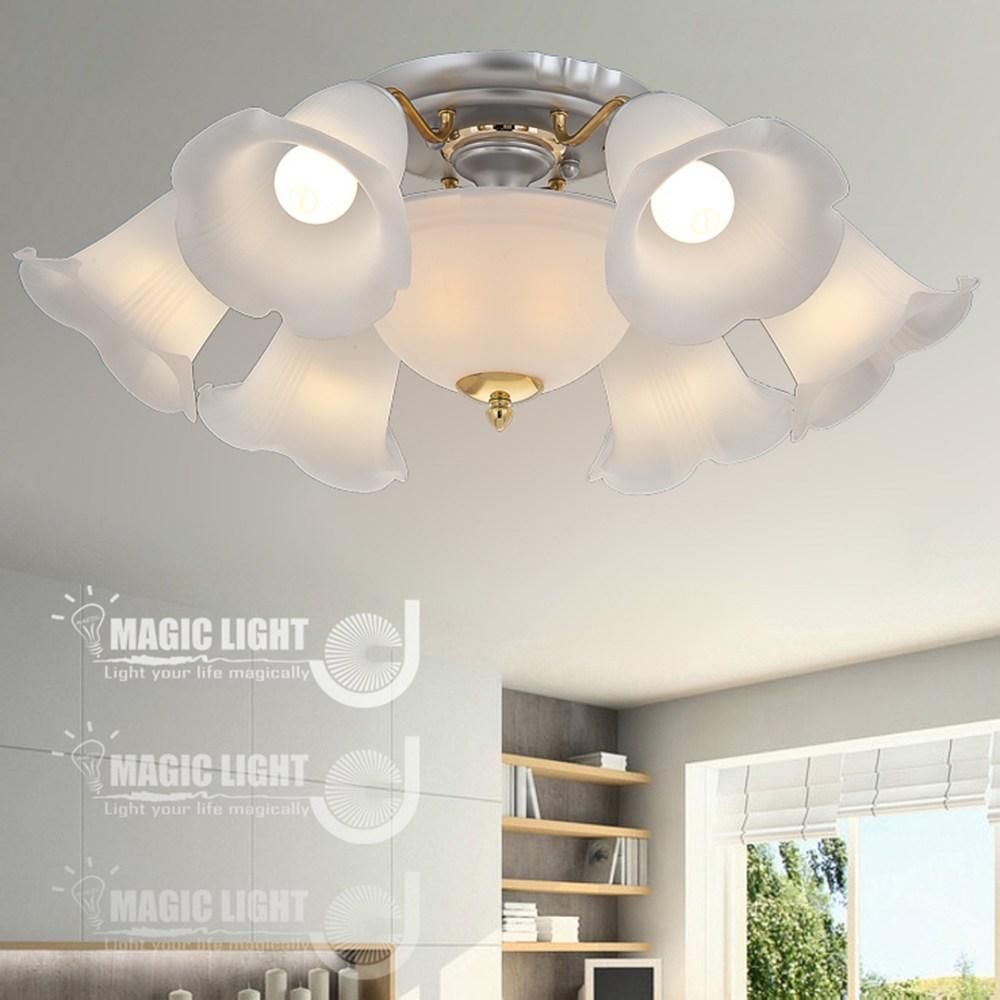【光的魔法師 Magic Light】沙銀百合 半吸頂六燈