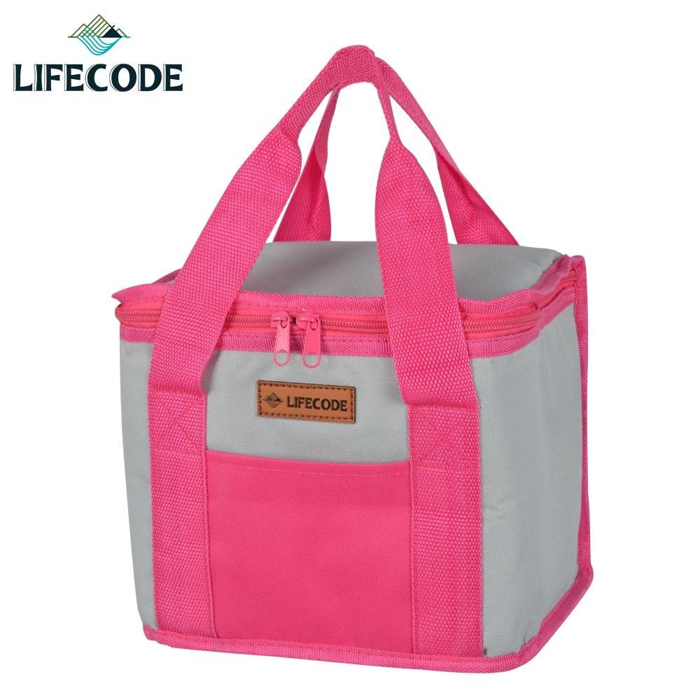 【LIFECODE】飯盒子保冰袋/便當袋-紅灰