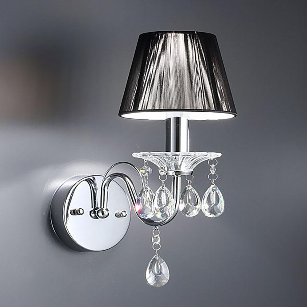 HONEY COMB 蕾雅水晶精工壁燈 雙色絲罩銀絲罩-TA7515R