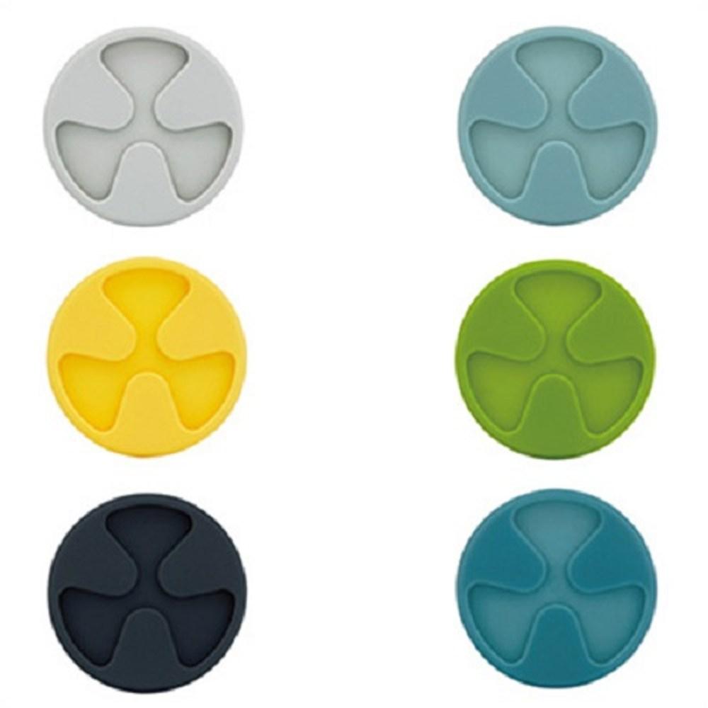 WAGA CREADYS 簡約流線8cm矽膠摺疊杯墊-六入組