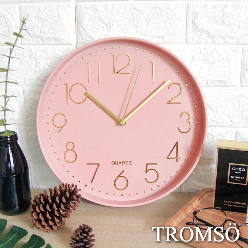 TROMSO紐約時代靜音時鐘-時代粉紅金