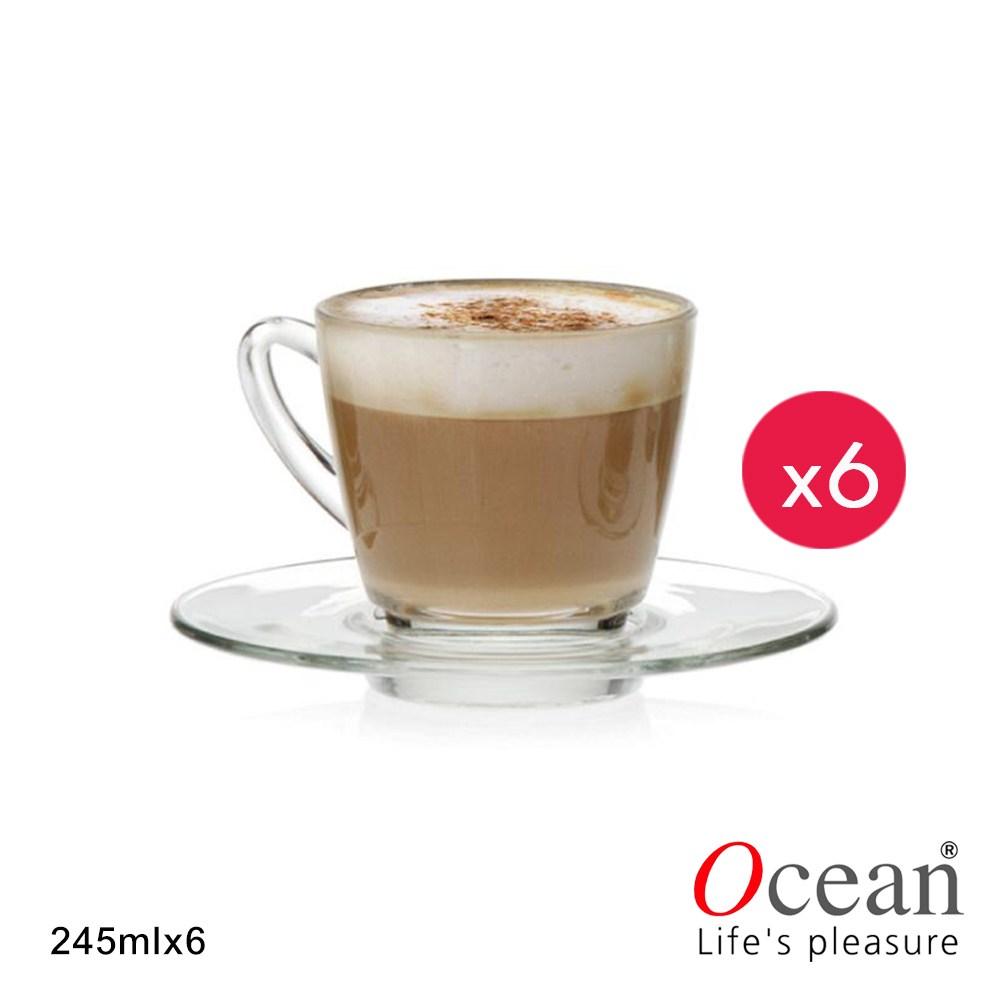 【Ocean】肯亞系列西式玻璃杯盤組 245ml(6組)