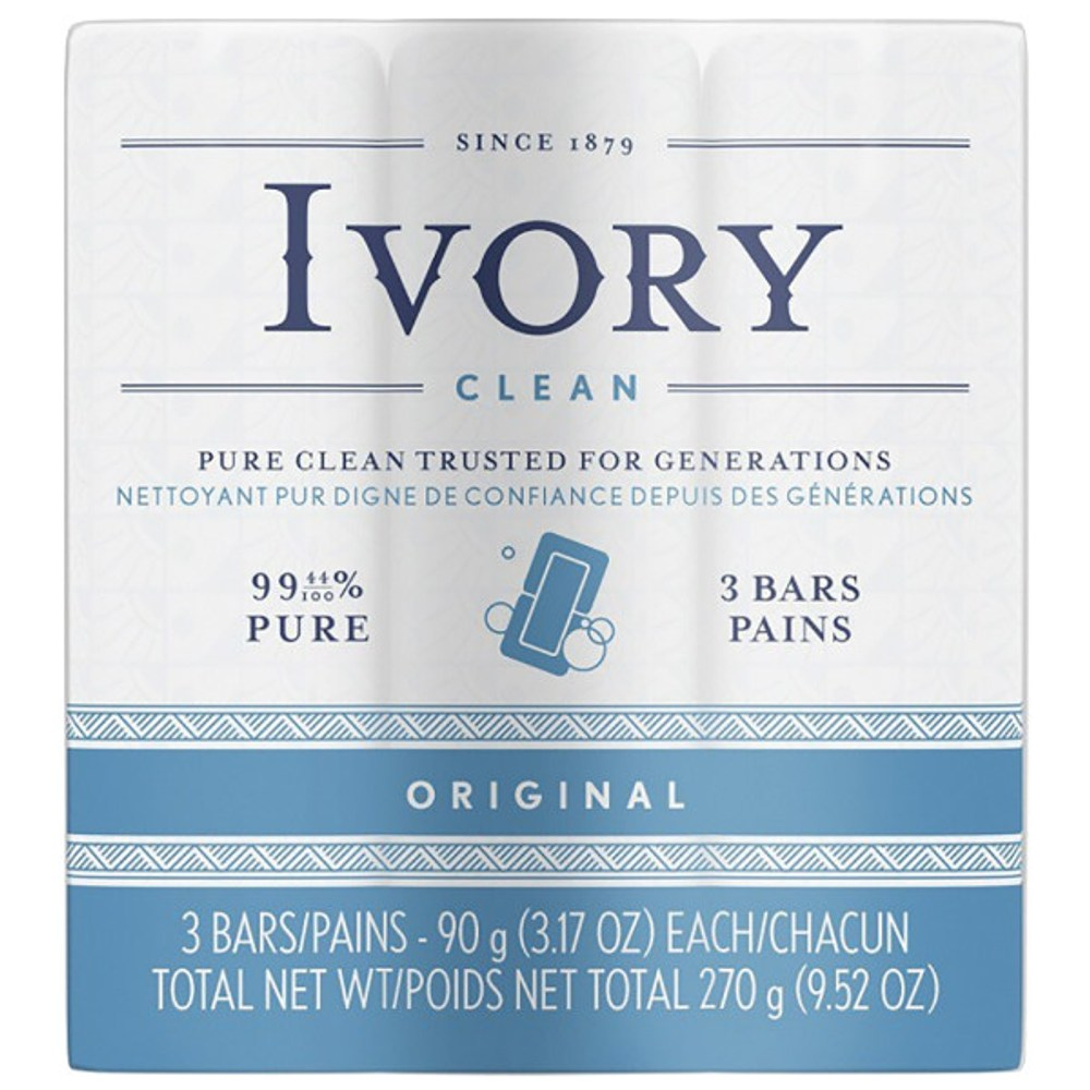 IVORY 中性配方浮水皂-原始香味(90g*3塊)*24/箱購)