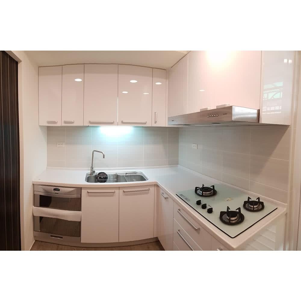 【MIDUOLI米多里】美好生活廚具(L型廚具/含三機設備+轉角櫃)