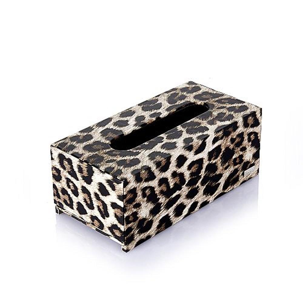 CEO方形大面紙盒-(獵豹咖啡色系列)