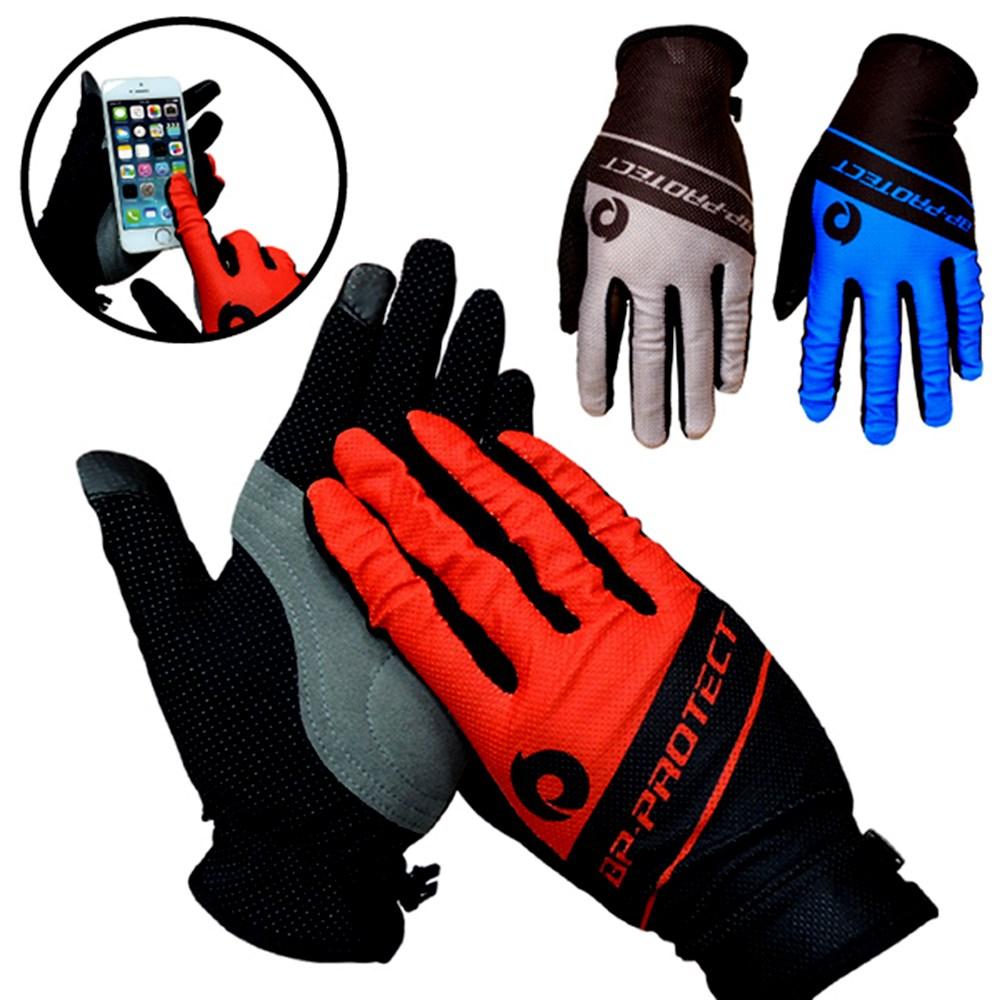 防曬透氣觸控手套 T-03 -M-紅色