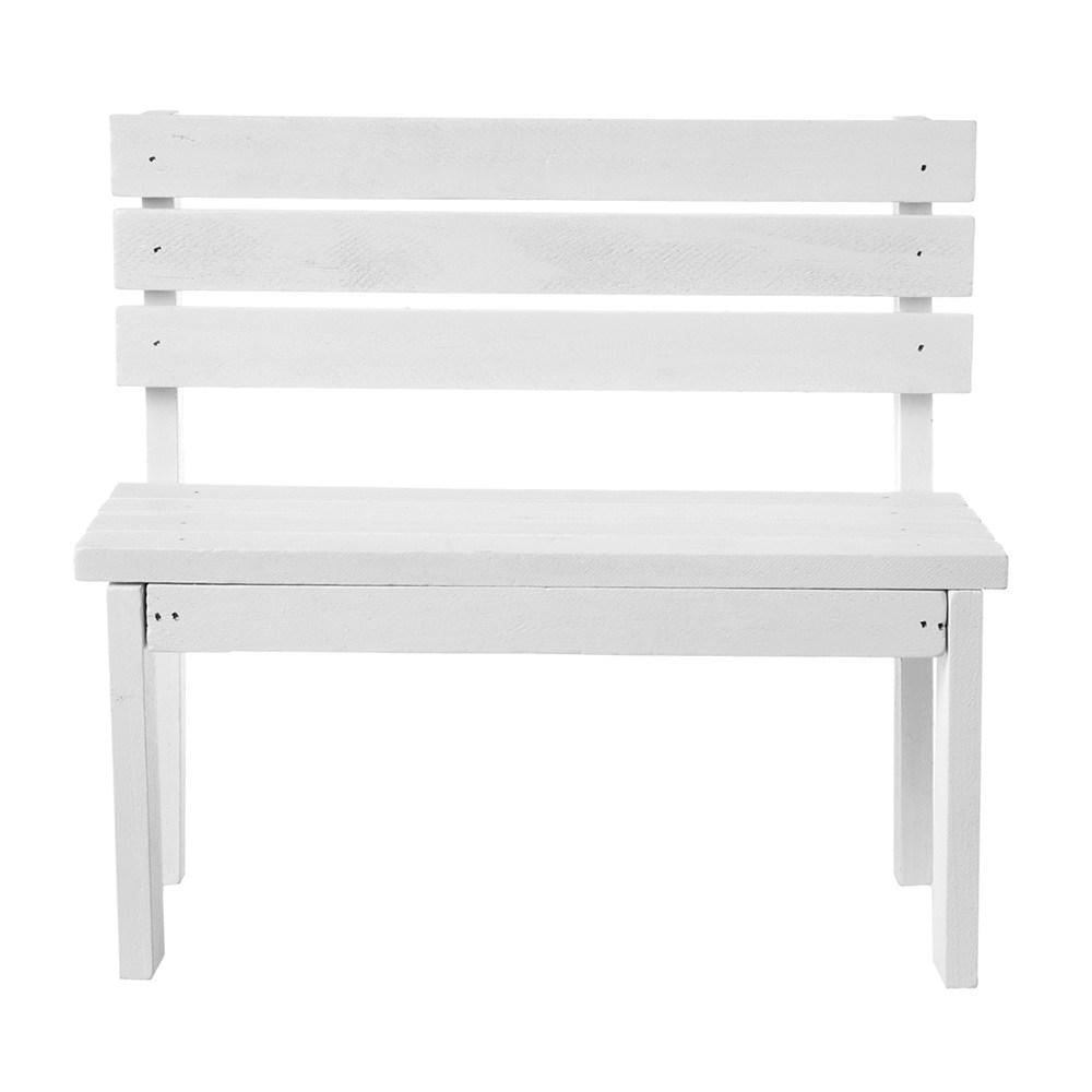 小公園椅-白色