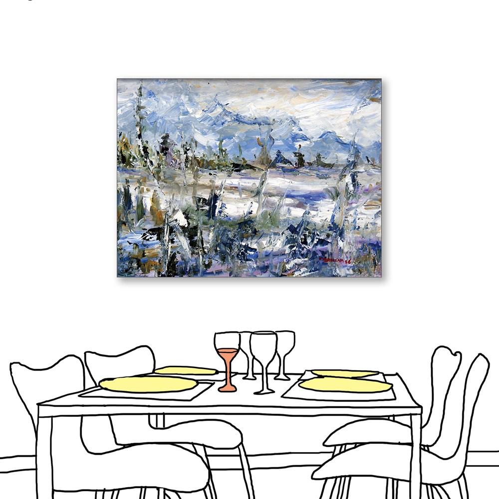 24mama掛畫 單聯式 藝術抽象 油畫風無框畫 60X80cm