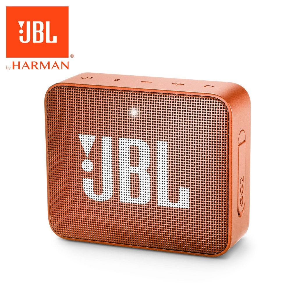 JBL 可攜式防水藍牙喇叭GO 2-珊瑚橘