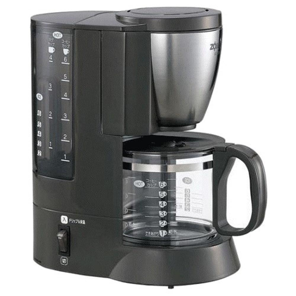 象印 EC-AJF60 6人份咖啡壺 雙重加熱模式,易清理濾紙盒