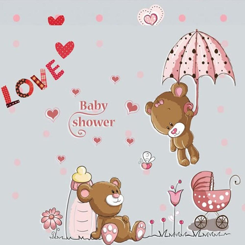 創意無痕壁貼 戀愛小熊