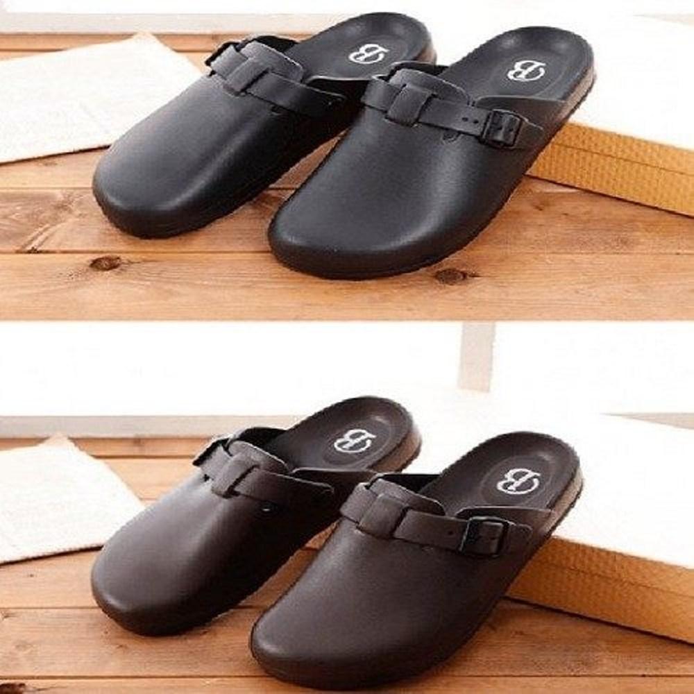 (e鞋院)多功能防水止滑工作鞋/荷蘭鞋黑25.5cm