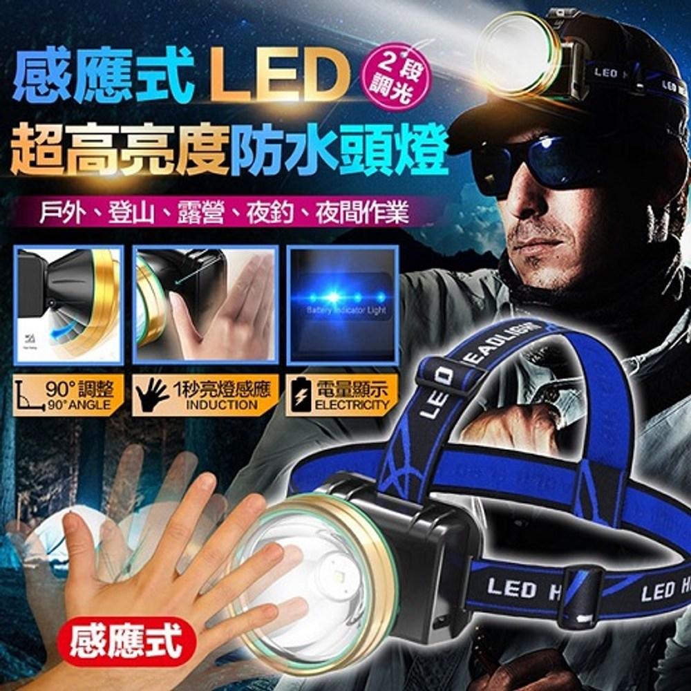 手勢感應防水LED頭燈