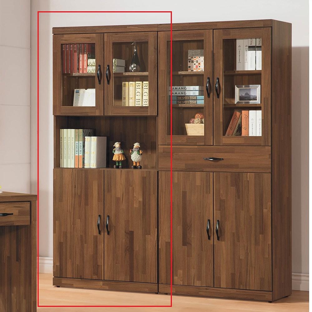 積層木2.6尺四門書櫃