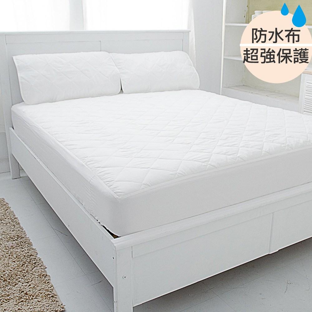 【eyah】台灣製超防水舖棉QQ保潔墊-床包式單人