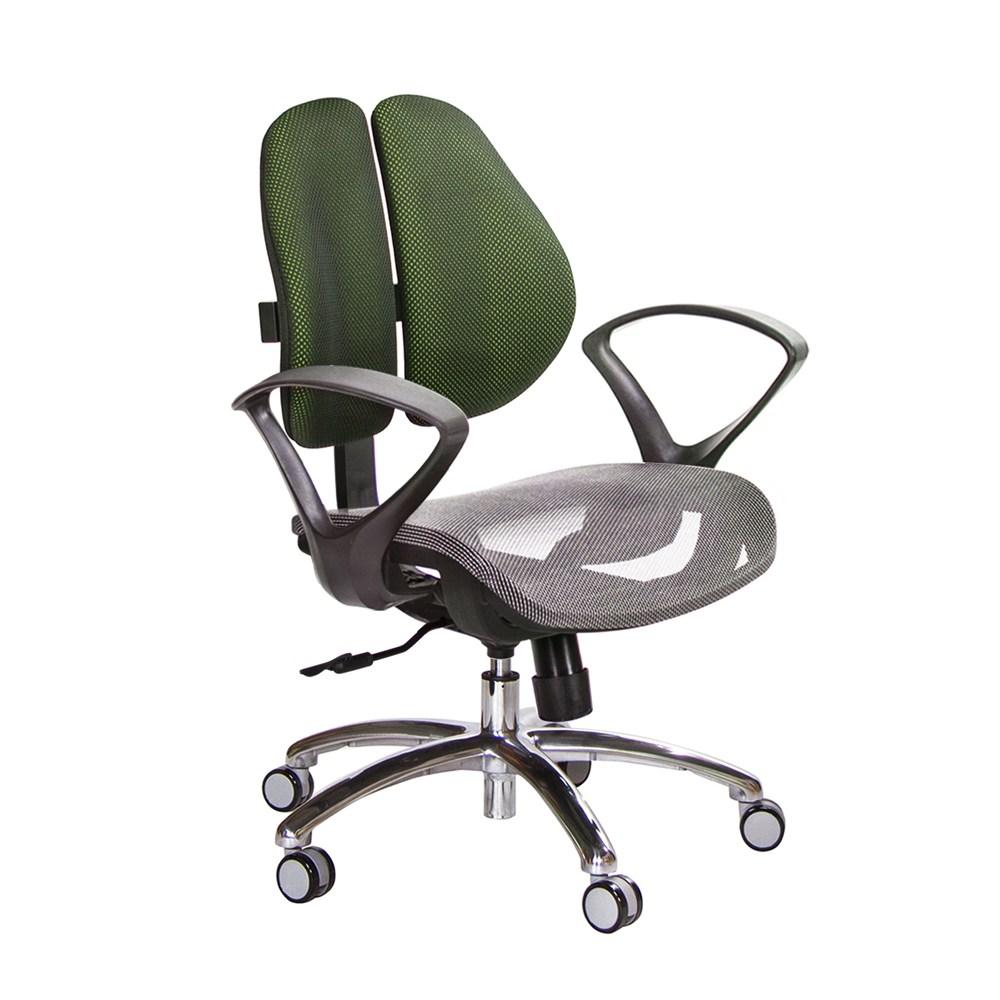 GXG 低雙背網座 電腦椅 (鋁腳/D字扶手) TW-2803 LU4訂購後備註顏色