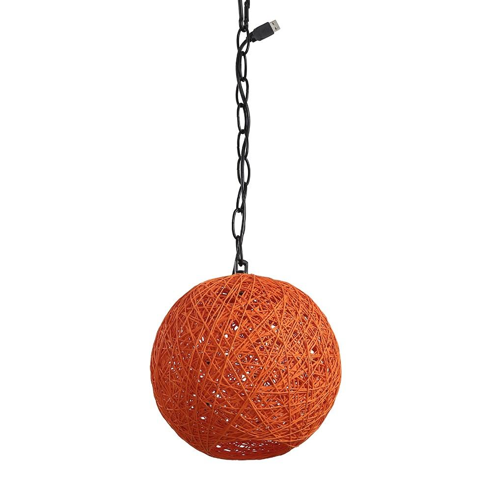 星星USB鳥巢形吊燈-閃酷橘
