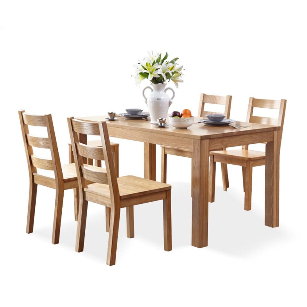 源氏木語鹿特丹橡木餐桌 1.2M Y2853實木餐椅 Y0262 (一桌四椅)