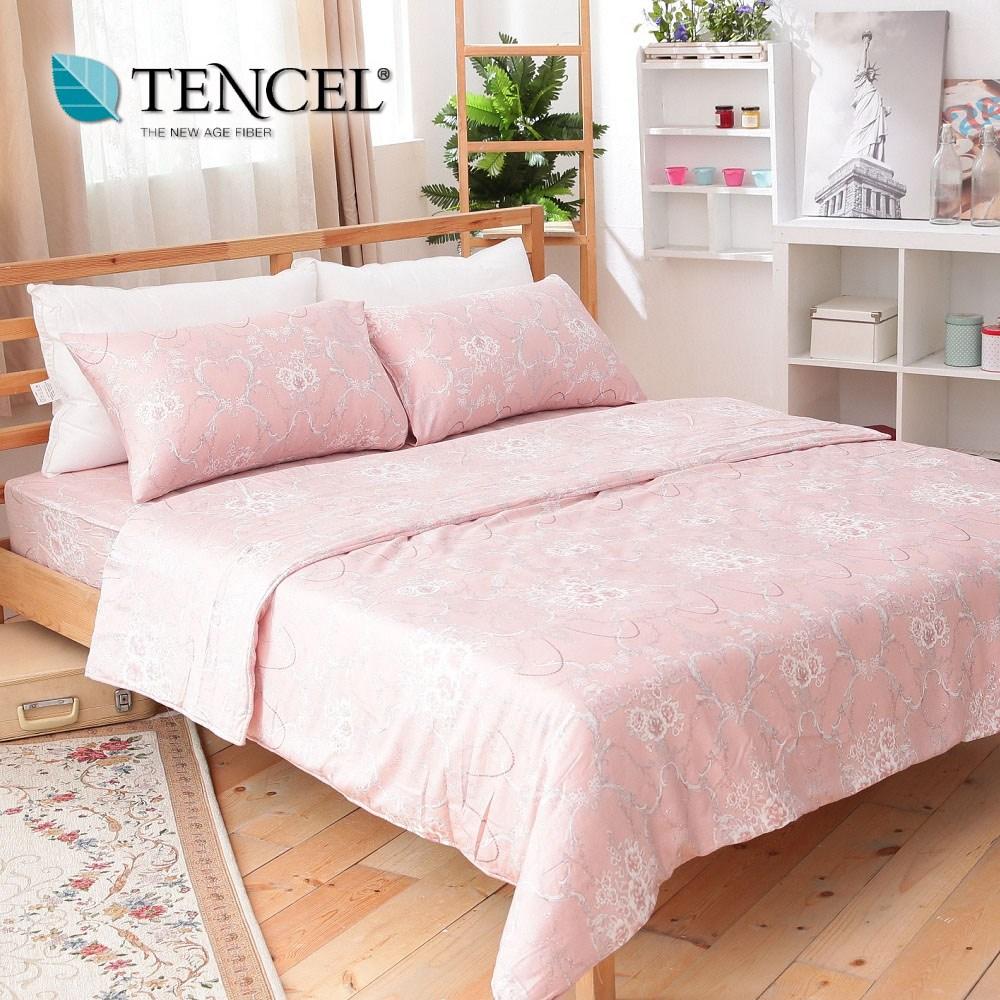 【貝兒居家寢飾生活館】100%萊賽爾天絲兩用被床包組(特大雙人/貝里尼)