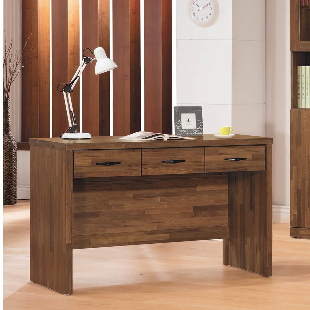 積層木4尺三抽書桌