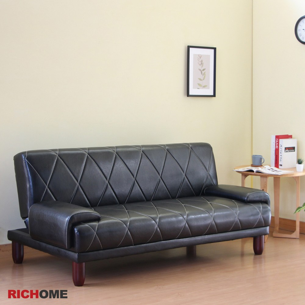 【RICHOME】布雷克爵士沙發床黑色