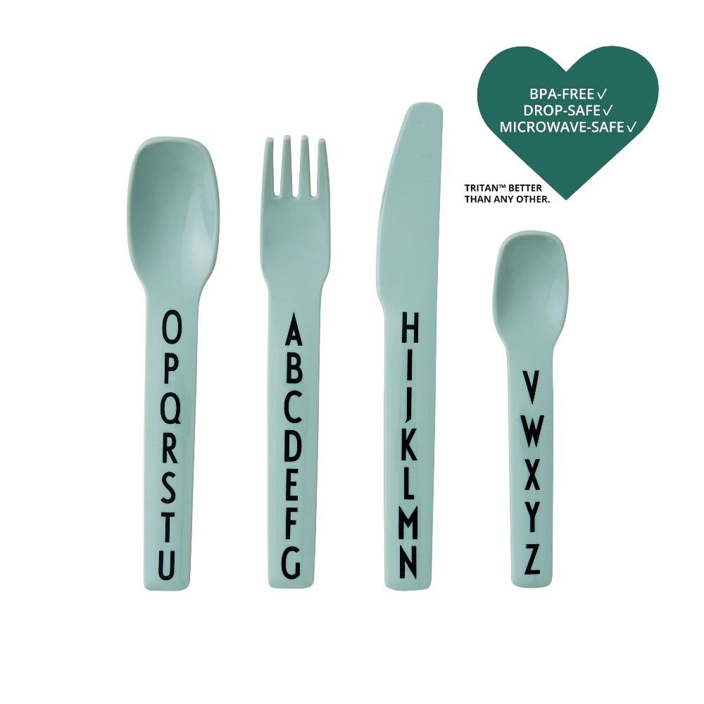 Design Letters 兒童餐刀叉4入組 綠