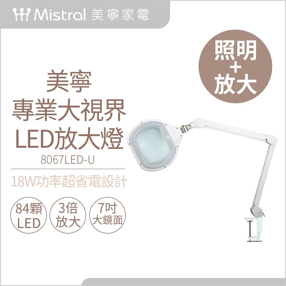 【Mistral美寧】專業夾式LED放大鏡燈8067