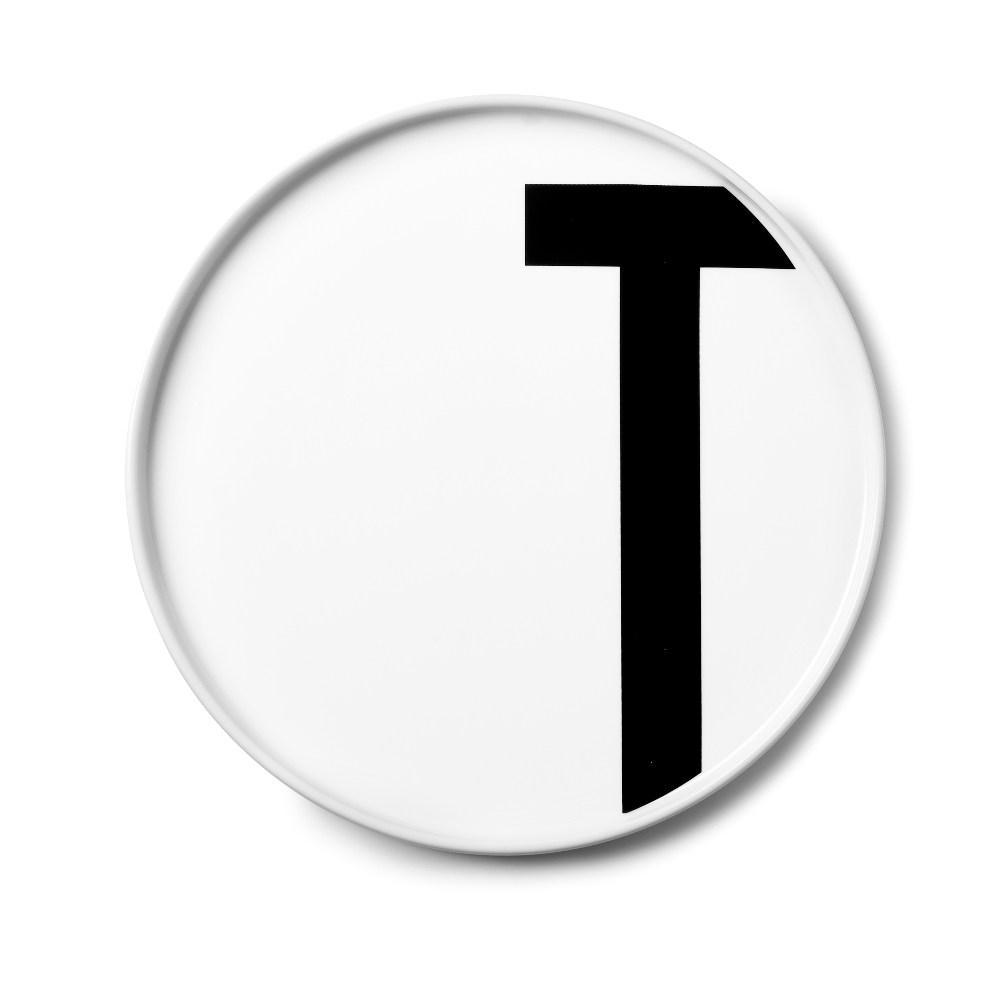 Design Letters 字母骨瓷平盤 T