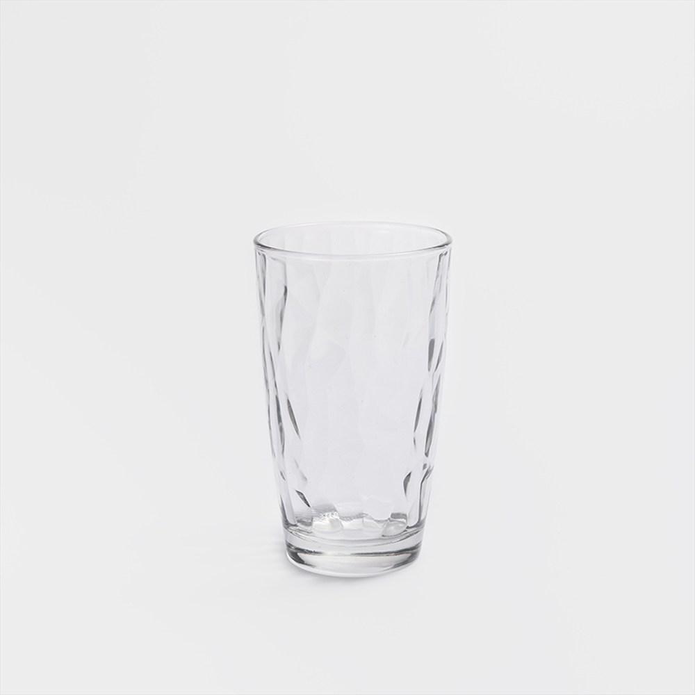 WAGA Bormioli Rocco 冰酷鑽面470ml壓花玻璃水杯透明