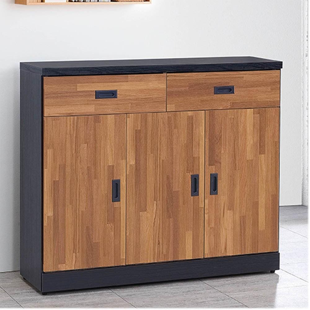 雙色集層木4尺鞋櫃