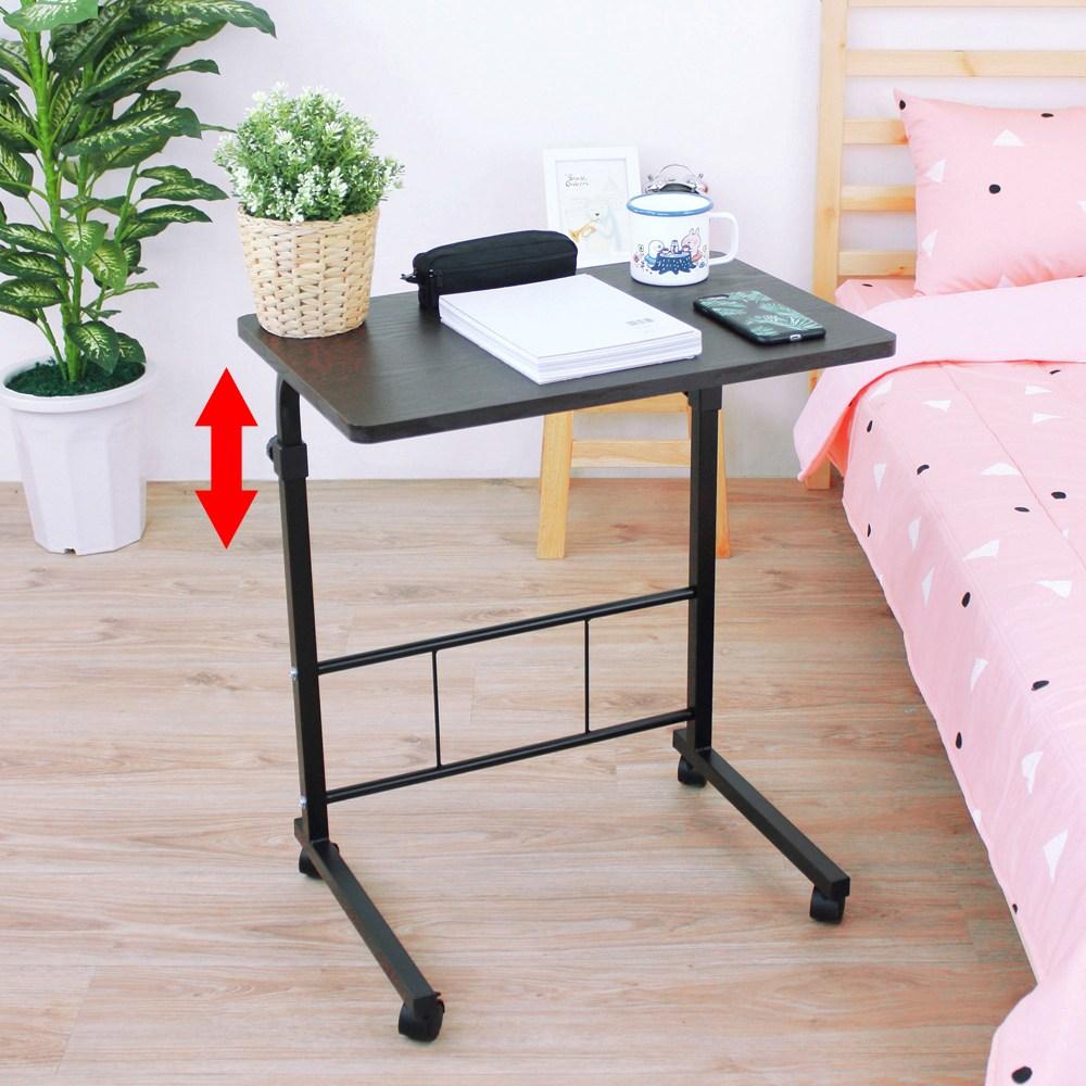 【頂堅】活動式升降電腦桌/書桌-寬60x深40x高71-91公分深胡桃木色